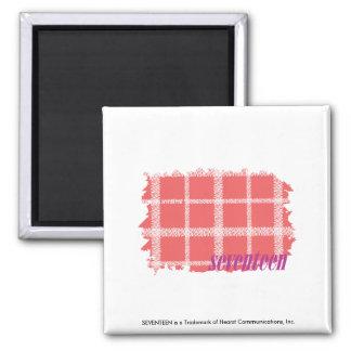 Plaid Pink 2 Refrigerator Magnet