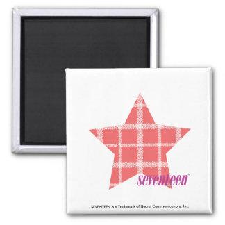 Plaid Pink 3 Magnet