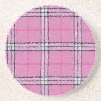 Plaid Pink Coaster
