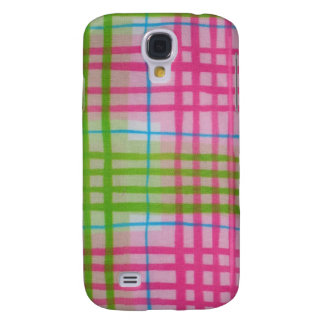 Plaid Pink Green Galaxy S4 Case