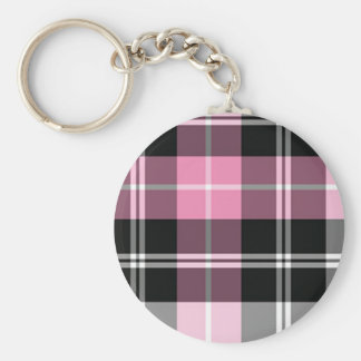 Plaid pink key ring