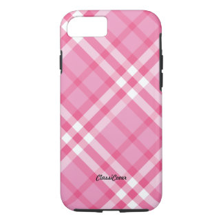 Plaid Pink Peppermint iPhone 7 Case