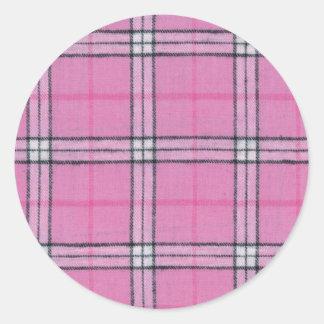 Plaid Pink Stickers
