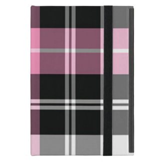 Plaid pink trendy glossy cover for iPad mini