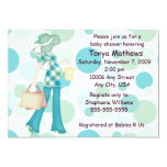 Plaid Polka Dot Baby Shower Invitation (CA)