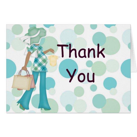 Plaid Polka Dot Thank You Notecard (AA)