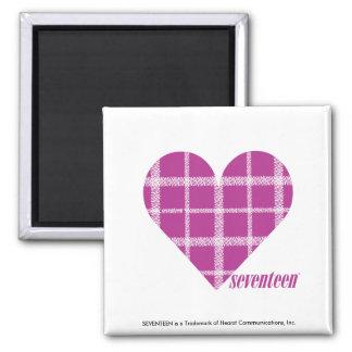 Plaid Purple 2 Fridge Magnets