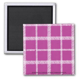 Plaid Purple Refrigerator Magnets
