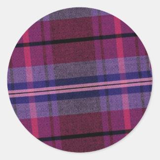 Plaid Purple Pink Sticker