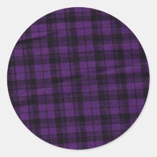 Plaid Purple Stickers