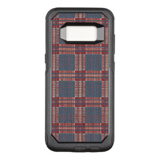Plaid red and blue OtterBox commuter samsung galaxy s8 case