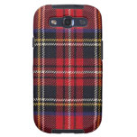Plaid Red and Blue Samsung Galaxy S Samsung Galaxy S3 Cases