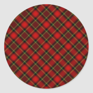 Plaid Red Green Stickers