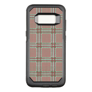 Plaid red, pink and green OtterBox commuter samsung galaxy s8 case