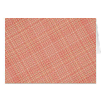 Plaid Red Yellow Greeting Cards