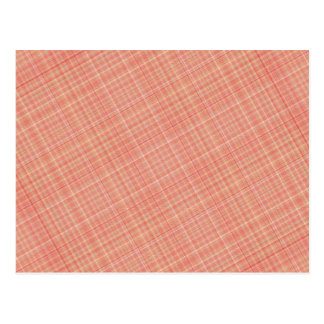 Plaid Red Yellow Postcard