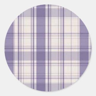 plaid round sticker