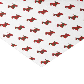 Plaid Scottie Dog Tissue Paper