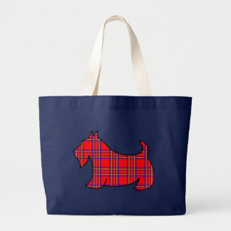 Plaid Scottish Terrier Scotty Book Tote Bag Gift