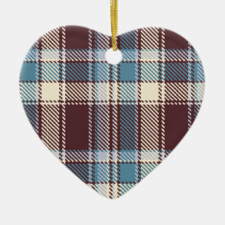 Plaid set 01 ceramic heart decoration