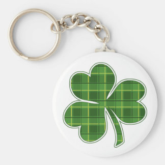 PLAID SHAMROCK - keychain