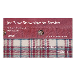Plaid Shirt Pack Of Standard Business Cards