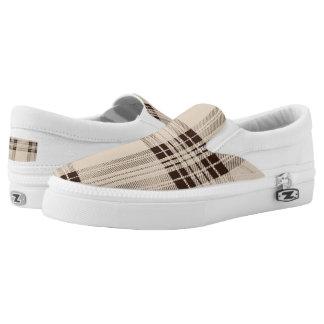 Plaid shoe printed shoes