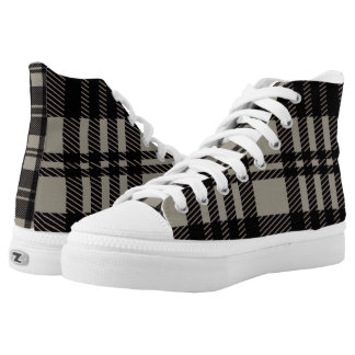 Plaid shoe printed shoes