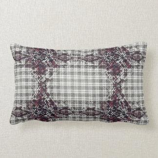 Plaid Snakeskin Lumbar Cushion