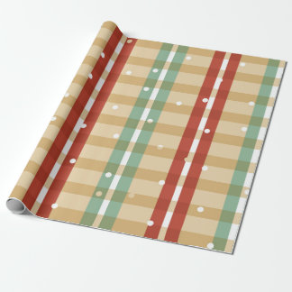 Plaid Snow Many Cookies Wrapping paper