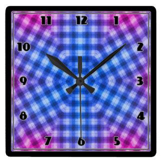 Plaid Square Wall Clock