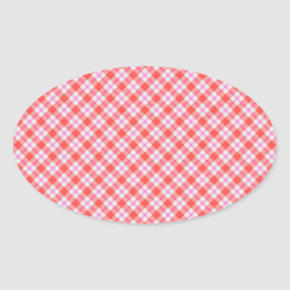 Plaid Oval Sticker