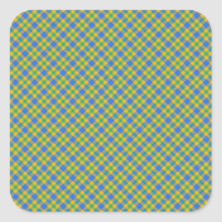 Plaid Square Stickers