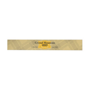 Plaid Stripes Personalised Honey Jar Wraparound Address Label