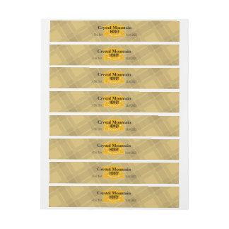 Plaid Stripes Personalized Honey Jar Wraparound Address Label