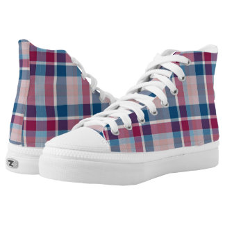 Plaid Style 1 Zipz High Top Printed Shoes
