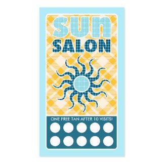 plaid sun salon pack of standard business cards