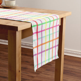 Plaid Table Runner in Citrus Colors