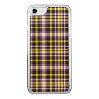 plaid tartan customize decorative phone wood Case