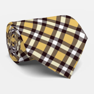 Plaid /tartan pattern lemon yellow tie