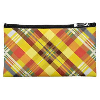 Plaid / Tartan - 'Sunflower' Cosmetic Bag