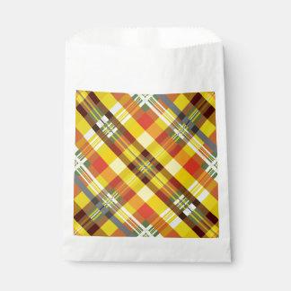 Plaid / Tartan - Sunflower Favour Bags