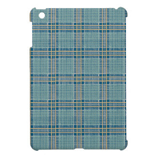 Plaid Teal Blue and Yellow iPad Mini Covers