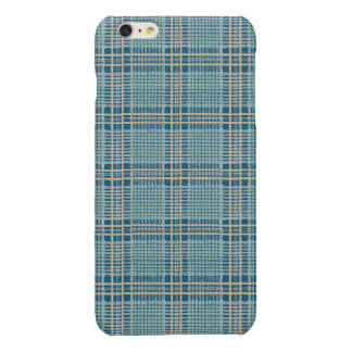 Plaid Teal Blue and Yellow iPhone 6 Plus Case