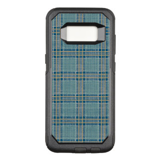 Plaid Teal Blue and Yellow OtterBox Commuter Samsung Galaxy S8 Case