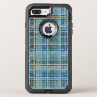 Plaid Teal Blue and Yellow OtterBox Defender iPhone 8 Plus/7 Plus Case