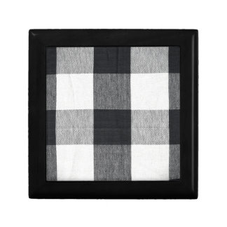 Plaid Textured Small Square Gift Box