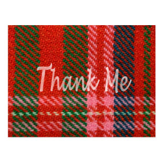 Plaid Thank ME Postcard