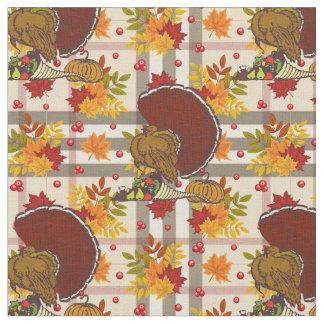 plaid thanksgiving turkey fabric