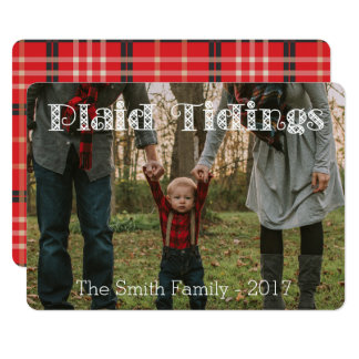 Plaid Tidings Plaid Back Holiday Card